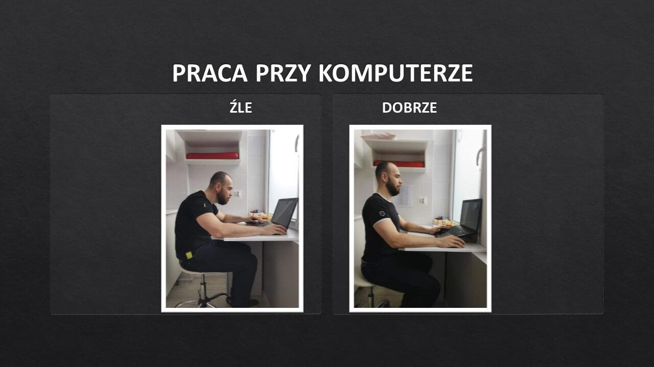 Zespół posturalny - praca przy komputerze